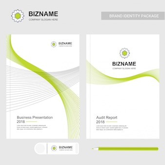 Services company logo and presentation template