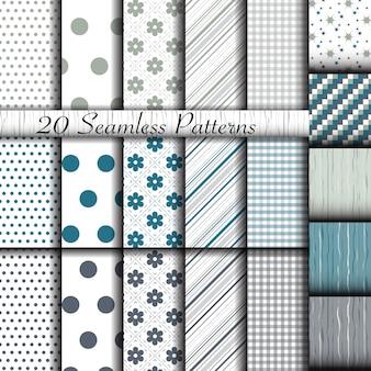 Set of 20 classic seamless patterns
