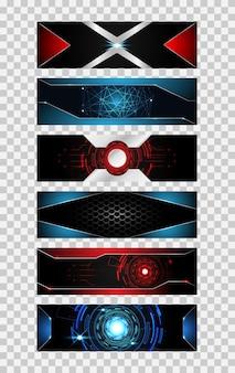 Set of 6 banner