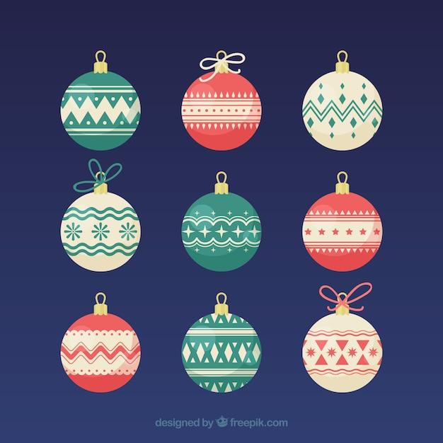 Set of 9 christmas balls