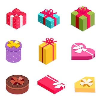 Set of 9 gift boxes gifts for any occasion like christmas birthday party valentines day