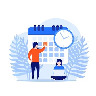 Установите крайний срок, концепция управления временем
