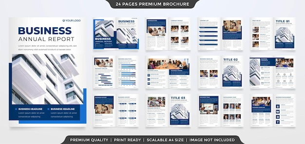 Set of a4 business brochure template premium style