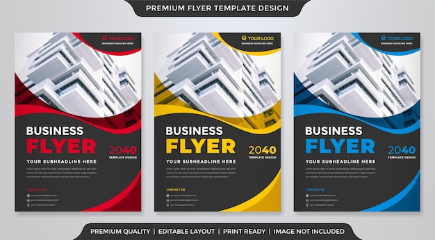 Set of a4 flyer template