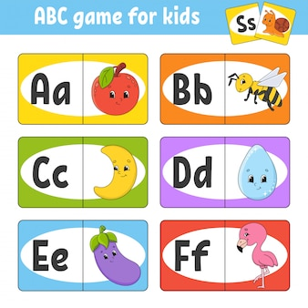 Set abc flash cards