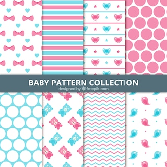 Set of abstract baby patterns