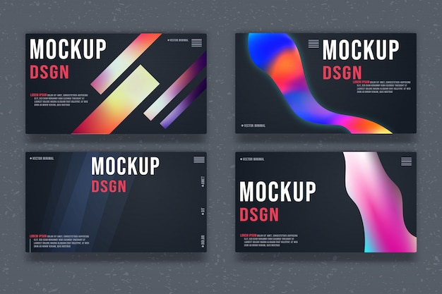 Set of abstract background template. minimal design banner.