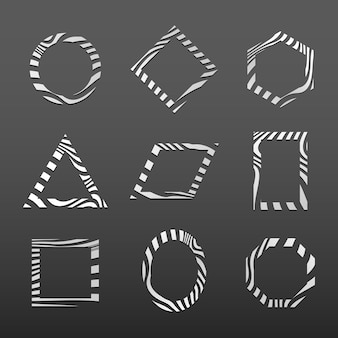 Set of abstract badge template