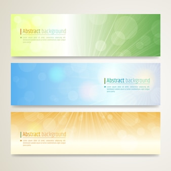 Set of abstract banner design with twinkle background