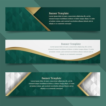 Set abstract banner template design with luxury and elegant