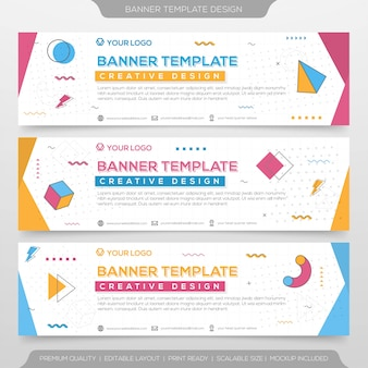 Set of abstract banner template