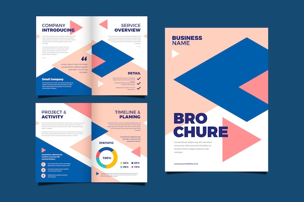 Set of abstract brochure concept