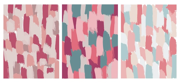Set of abstract brush stroked backgrounds