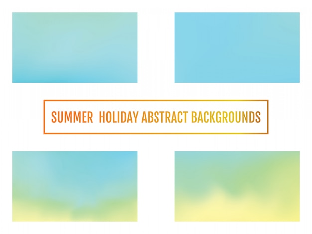 Set of abstract color gradient background for your design.