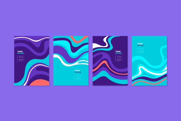 Set of abstract colourful covers