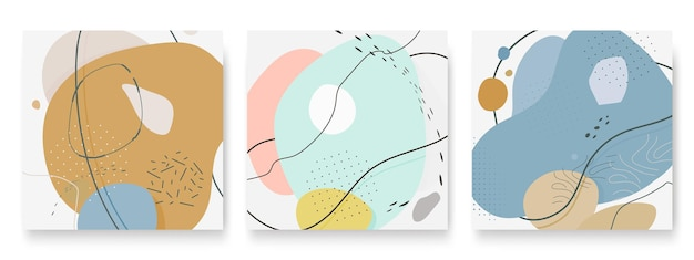Set of abstract different background  organic dynamical art form for social media stories