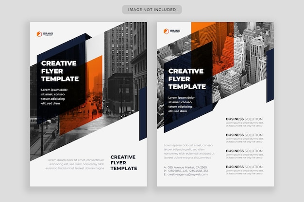 Set of abstract flyer design template