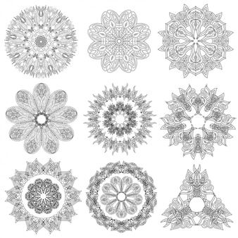 Set of abstract geometric  elements and shapes