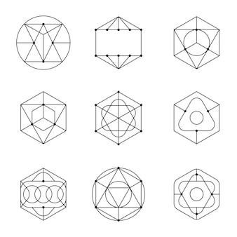 Установить вектор абстрактных геометрических форм