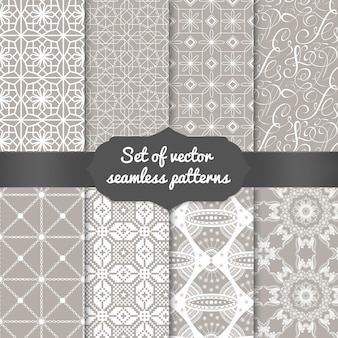 Set of abstract geometric pattern backgrounds. elegant backgrounds for cards and invitations.