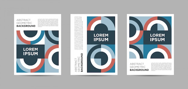 Set of abstract geometric posters