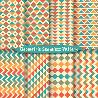 Set of abstract geometric seamless pattern background. graphic modern pattern texture bright color