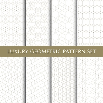 Set of abstract geometric vector pattern
