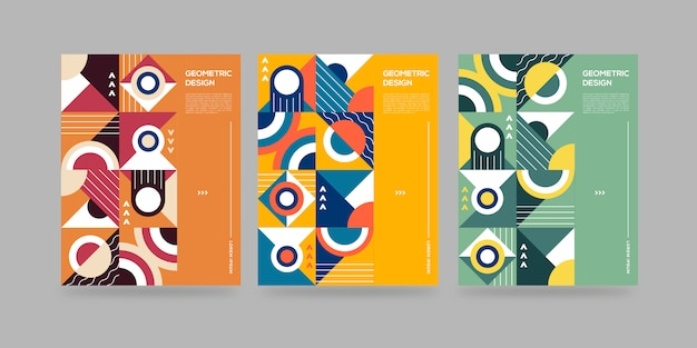 Set of abstract geometrical covers