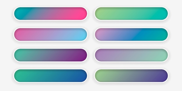 Set of abstract gradient colorful texture for your design.