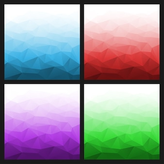 Set of abstract gradient geometric bright backgrounds. vector illustration