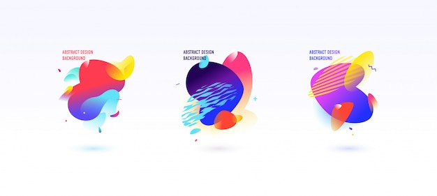 A set of abstract graphic elements