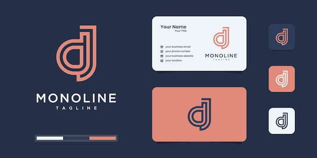 Set of abstract initial d & j or d j monogram logo design, icons for business or branding.