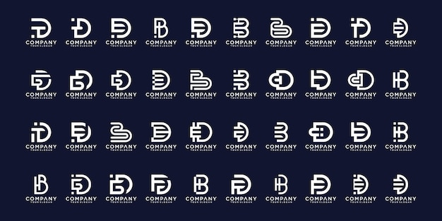 Set of abstract initial a-z.monogram logo design