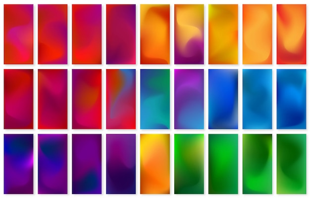 Set of abstract liquid wallpaper design