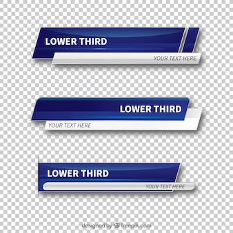 Set of abstract lower thirds