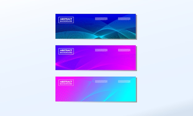 Set of abstract modern banner background