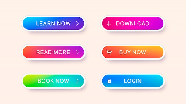 Set of abstract modern web buttons. ready template of vector buttons