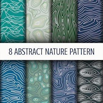 抽象的な自然パターンを設定します。