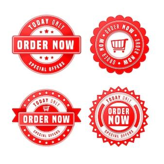 Set di ordine astratto ora adesivi