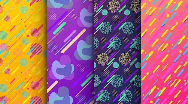 Set of abstract seamless background available in swatches panel