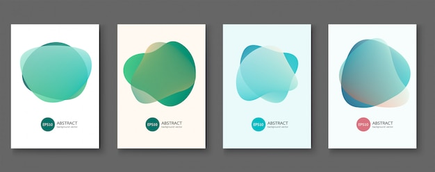 Set of abstract vector backgrounds with line waves