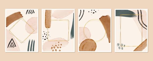 Set di copertine acquerello astratto