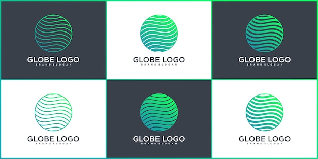 Set of abstract web icons and web logo design colection premium vektor