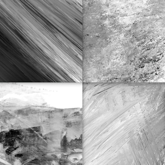 Set of acrylic abstract backgrounds, black and white