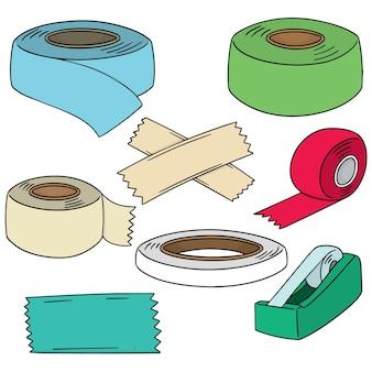 Set of adhesive tape