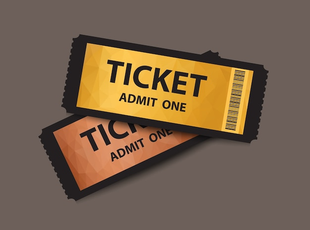Set of admission tickets