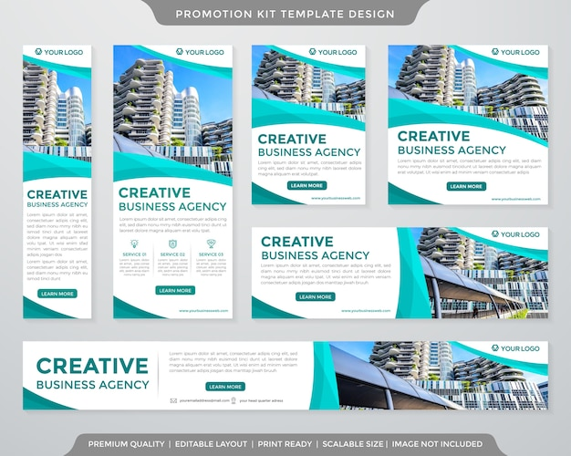 Set of ads banner template premium style