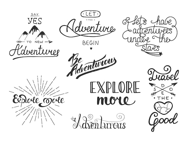 Set of adventure and travel vector