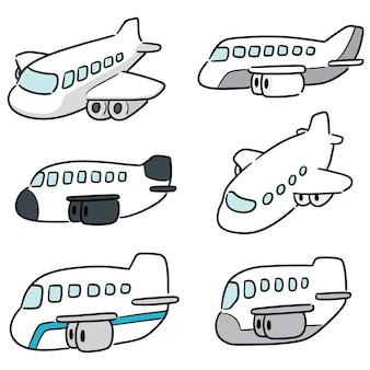 Set of airplane