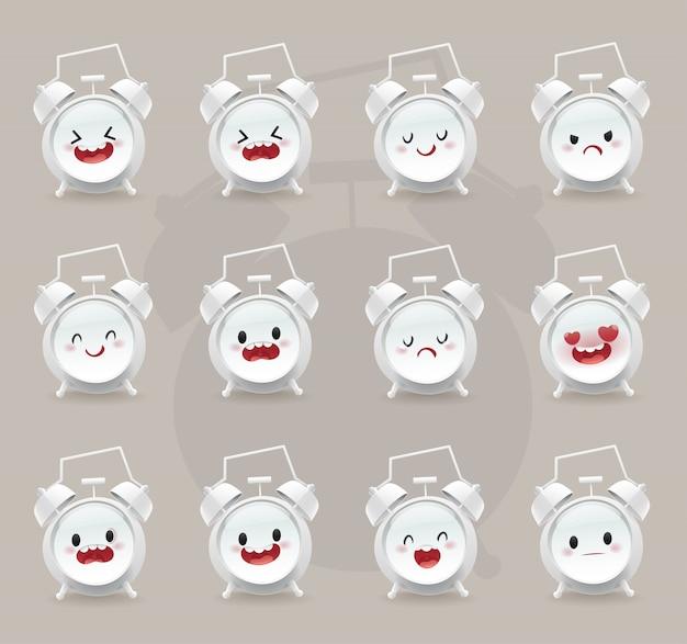 Set of alarm clock emotions